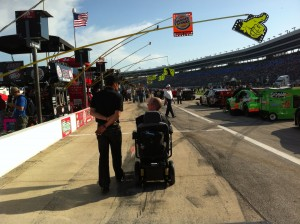 Chet McDoniel in Pit Row at Texas Motor Speedway